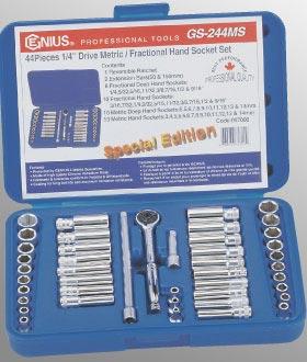 """Genius Tools 1//4/"""" Dr 9mm Deep Hand Socket 225209"""