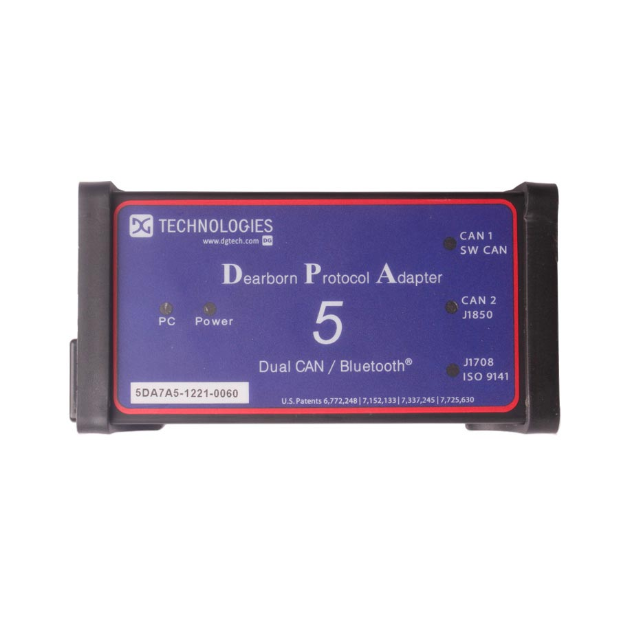 DEARBORN DPA5 Protocol Adapter 5 - Dual CAN, USB/BlueTooth RP1210 A/B/C  Compliant, SAE J2534 Complia